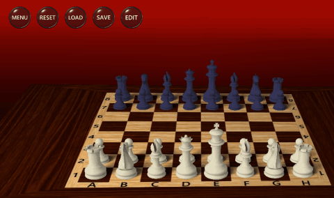 3D chess game - Chessboard with Menu