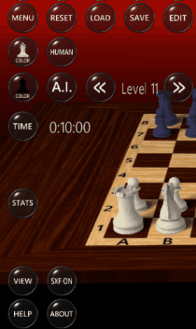 3D chess game - Menu Option