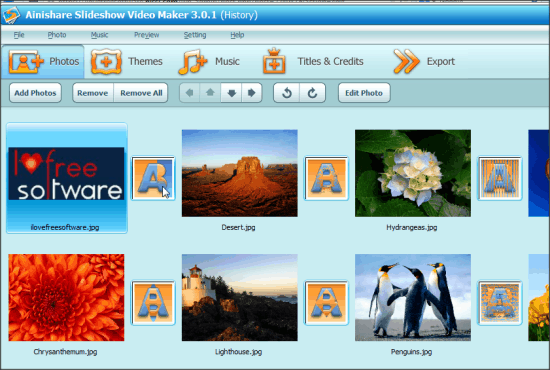 Ainishare Free Slideshow Video Maker