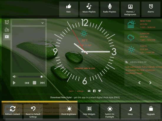 Alarm Clock Pro-Different options