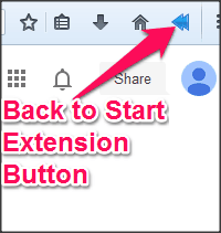 Back to Start Extension Icon