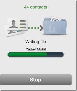 Backing Up Contacts