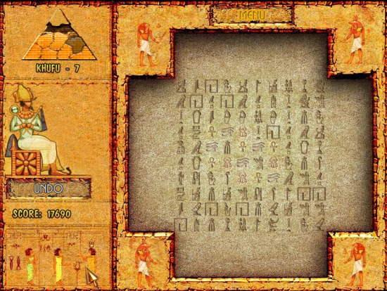 Brickshooter Egypt Game Interface