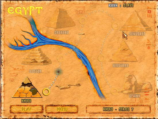 Brickshooter Egypt Map