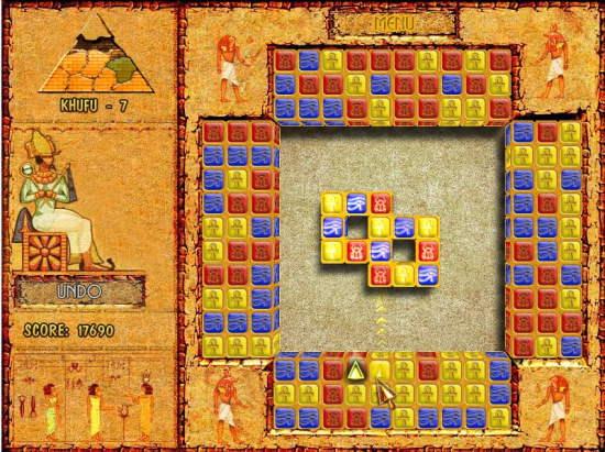 Brickshooter Egypt Shift the block