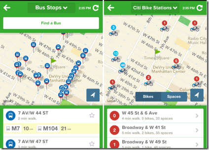 Checking Stations Using Citymapper