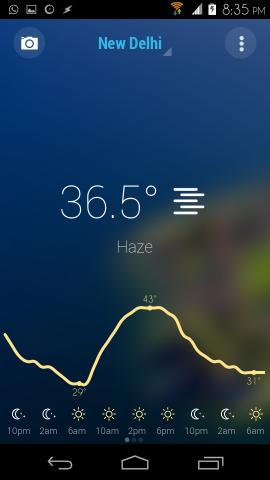Checking Weather Is More Elegant With Bright Weather For Android