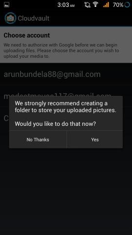 CloudVault Photo Uploader  name a folder