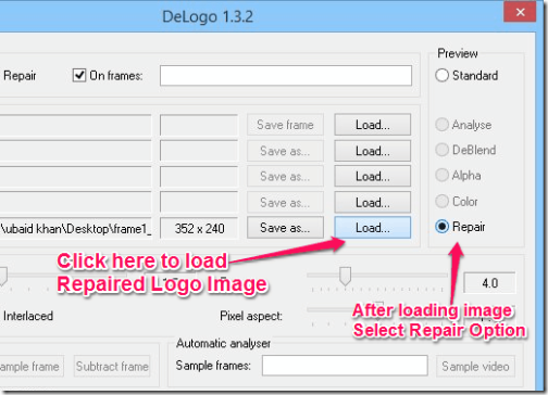 Delogo - With Load and Repair Option