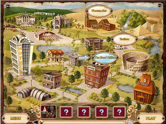 Detective Stories Hollywood Map