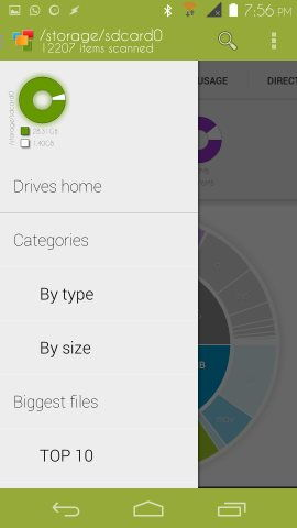 Device Storage Analyser for Android biggest files