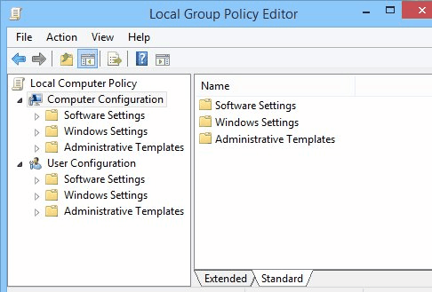 Disable Windows Store - Local Group Policy Editor