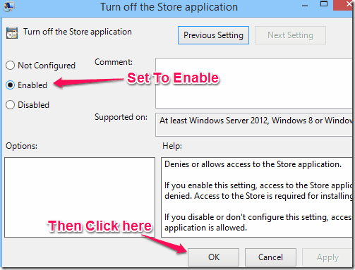 Disable Windows Store - Turn Off Store