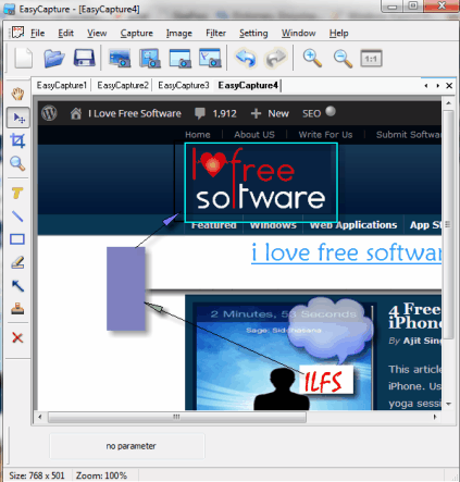 EasyCapture- screen capture software