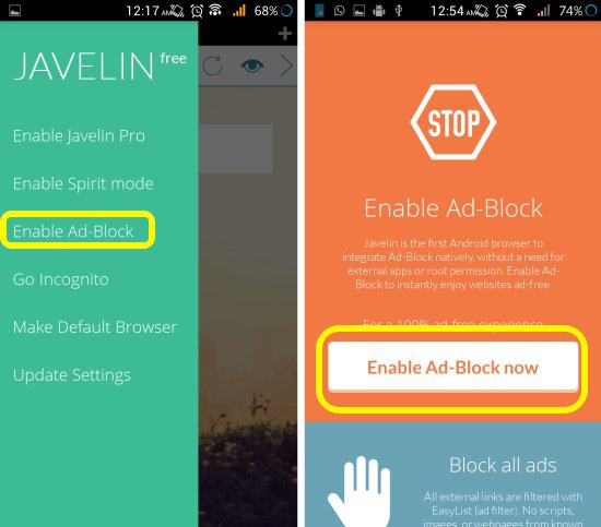Enable ad-block