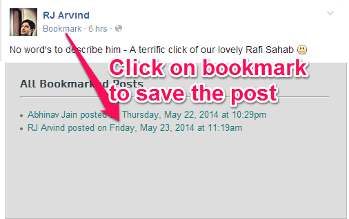 Facebook Bookmark Extensions