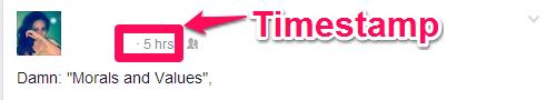 Facebook Timestamp