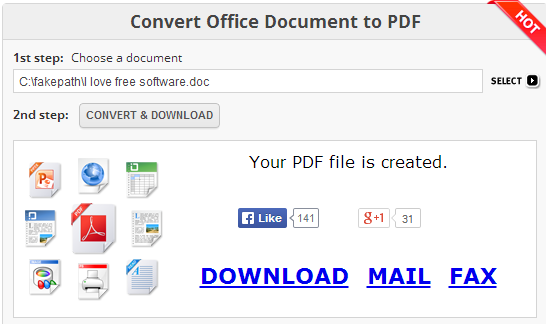 Free Online Document Converter- interface