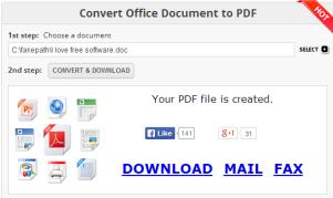 Free Online Document Converter- interface