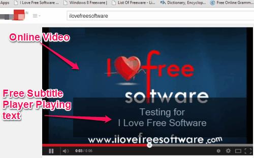 Free Subtitle Player