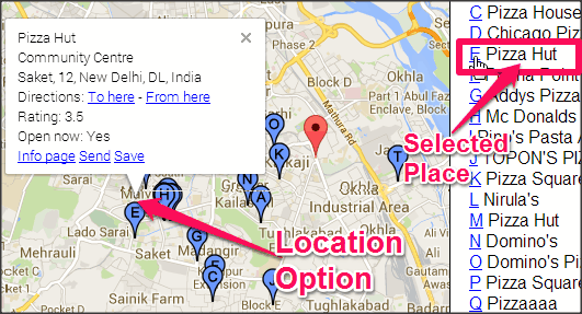 GeoMidpoint Location Options