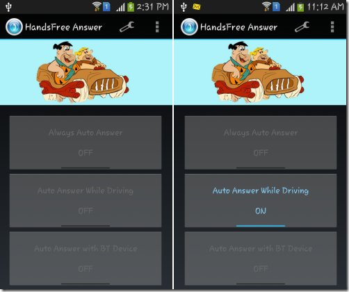 HandsFree Answer-enabled mode