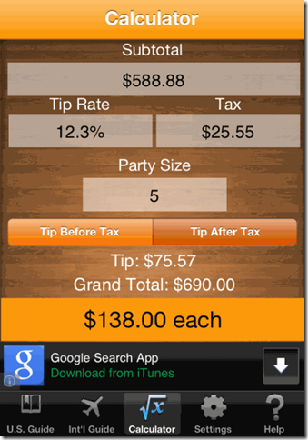 Tip Check Tip Calculator FREE