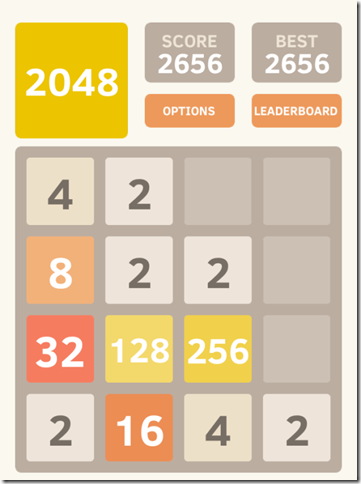 2048 iPhone Puzzle Game