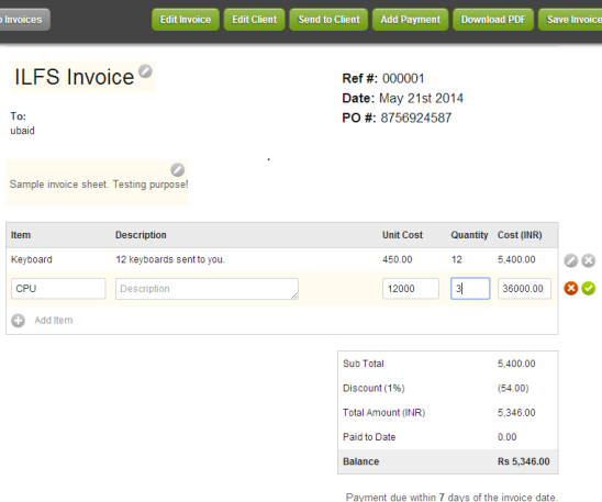 Invoiceable- create and manage invoices