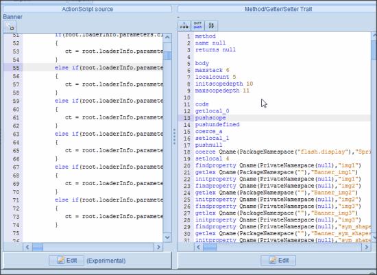 JPEXS Free Flash Decompiler Editor