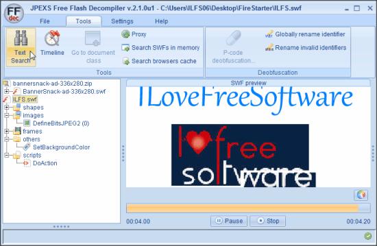 JPEXS Free Flash Decompiler