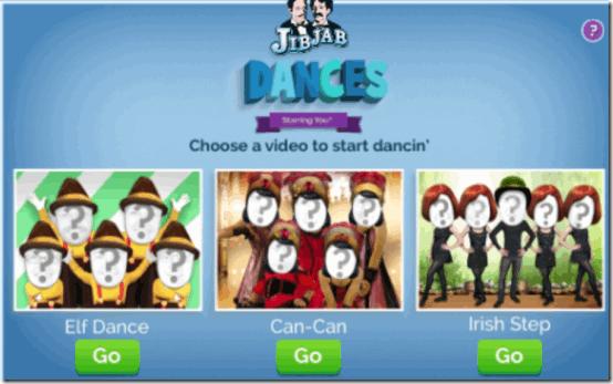 JabJab Dances Homepage