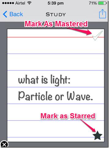 Marking Flashcards