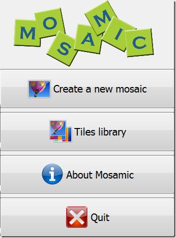 Mosamic-Home Screen