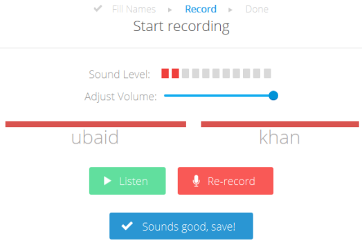 Namez- record your name pronunciation
