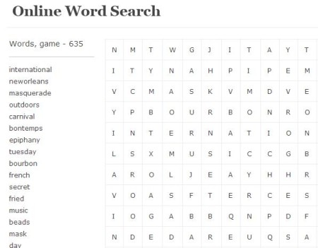 Online Word Search
