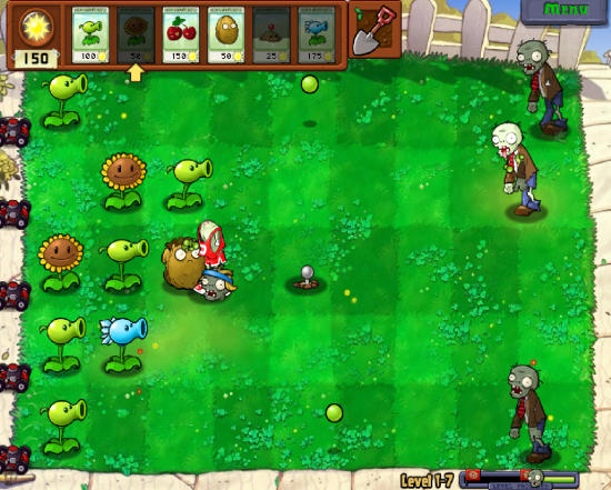 Plants Vs. Zombies Game Interface