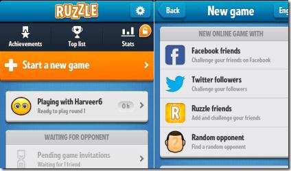 Ruzzle Homepage