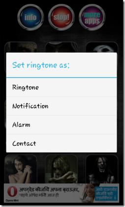 Scary Horror Ringtones-set ringtone as