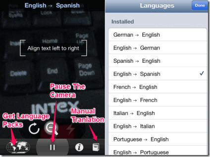 Selecting Language