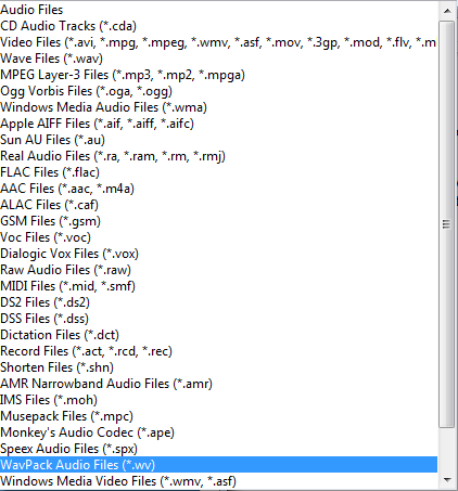Switch File format supported.