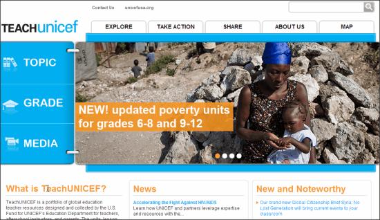 TeachUNICEF Homepage
