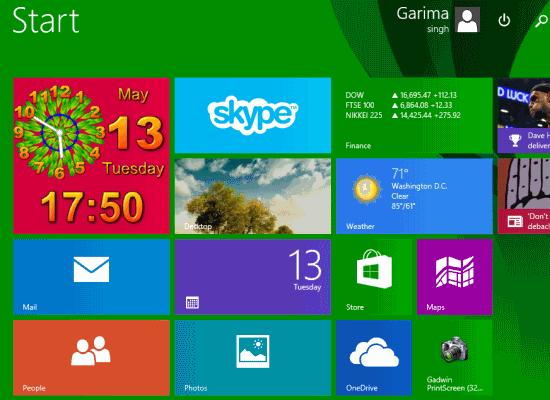 Tile Gadget- Start Screen