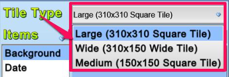 Tile Gadget- Tile Size