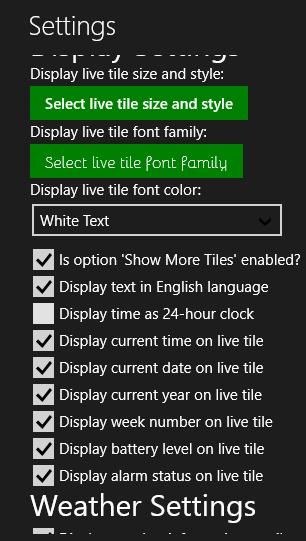 TimeMe Tile- Settings