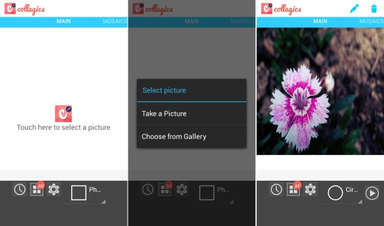 Using Collagics Photo Mosaic for Android to create photo mosaics