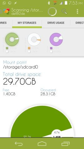 Using Device Storage Analyser for Android