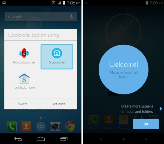 Using Samsung Galaxy S5 Launcher on any Android device