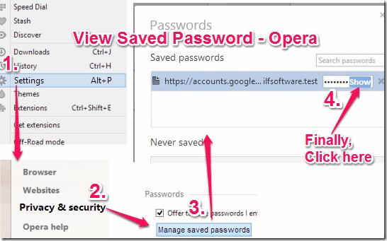 View Saved Password - Opera
