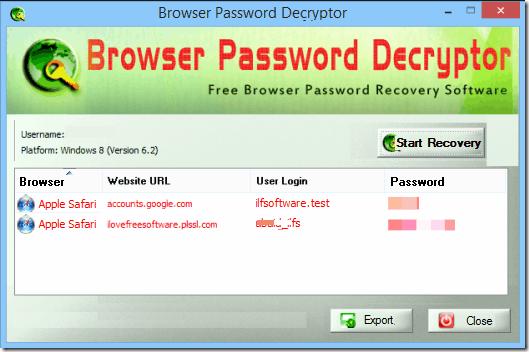 View Saved Password - Safari Screensoft